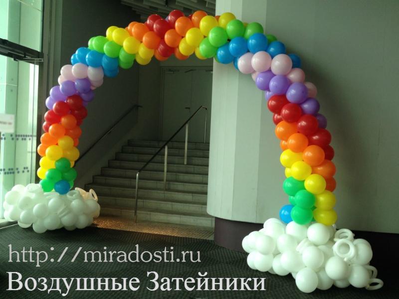 Арки из воздушных шаров фото